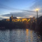 Vltava river at night - photo credit: Cara Maloney