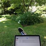Doing sales calls in the Narnia garden at K10