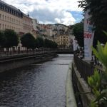 Crossing the river through Karlovy Vary